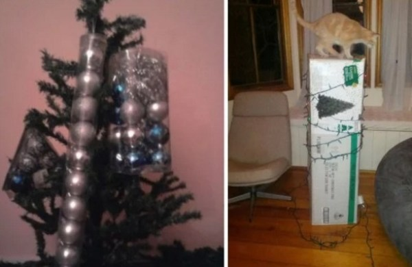 Too lazy to take the Christmas tree and decorations out of the packet