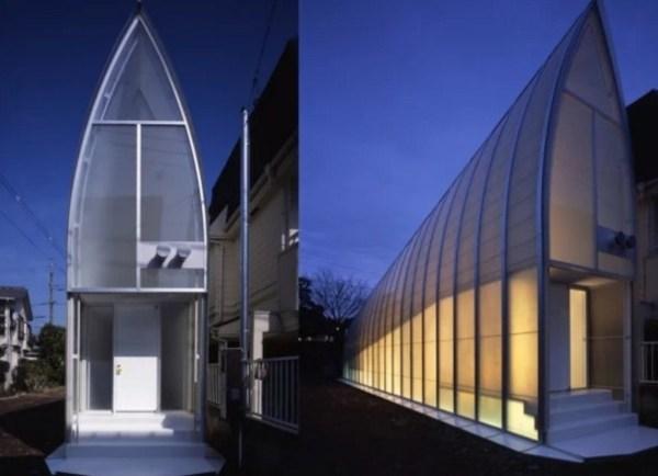 Thin house in Matsudo, Tokyo
