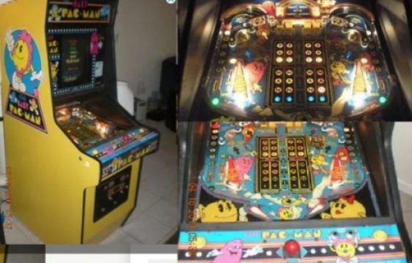 Pacman Video Pinball Arcade Machine