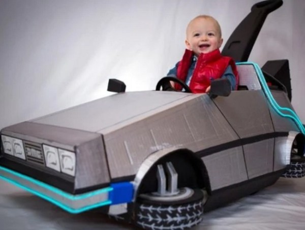 DeLorean baby buggy