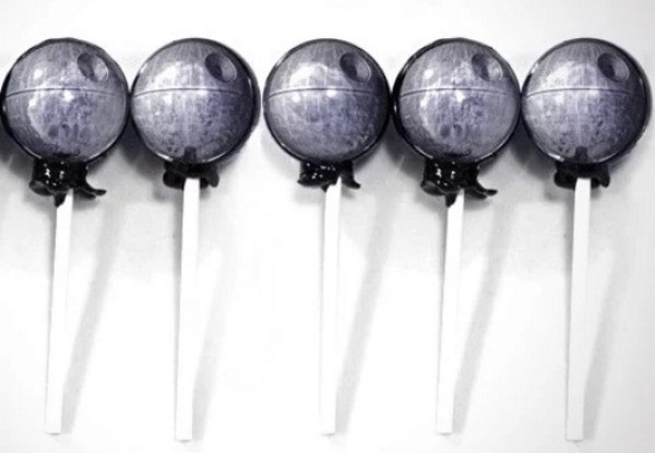 Death Star themed lollipops