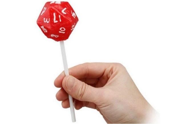 Icosahedron themed lollipops