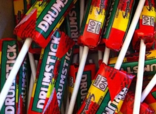 Retro themed lollipops