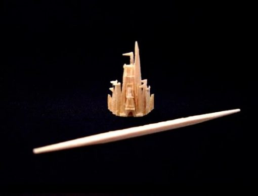 Cinderella Castle Toothpick Sculpture by Steven Backman