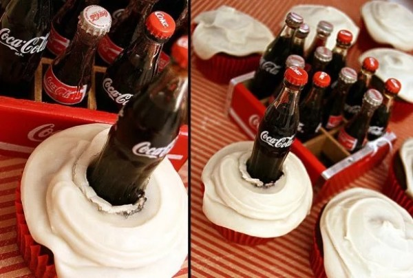Coke-Cola Soft Drink Cupcakes