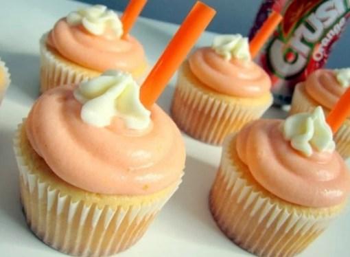 Crush Orange Soft Drink Cupcakes