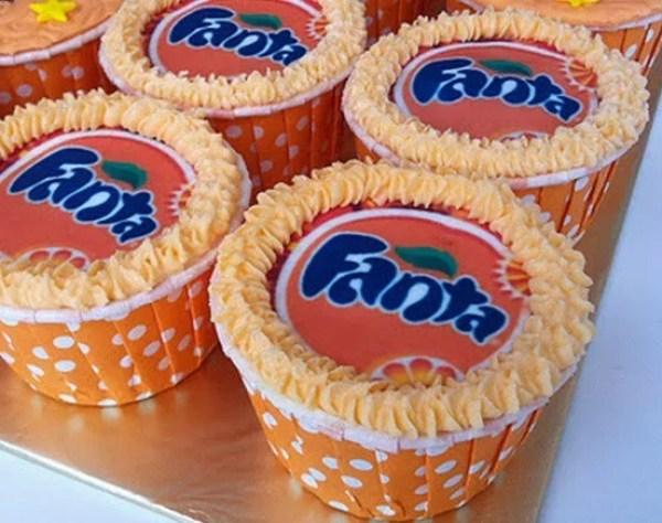 Fanta Soft Drink Cupcakes