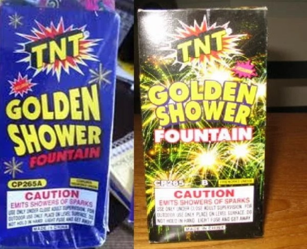 The Golden Shower Firework