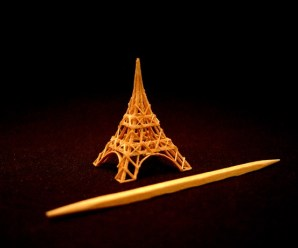 Ten Amazing Miniature Sculptures Made Entirely From Toothpicks!