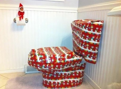 Gift Wrapped Toilet