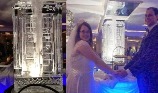 TARDIS Inspired Ice Sculpture
