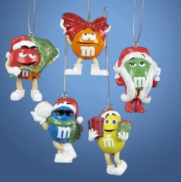 M&M's Inspired Christmas Tree Baubles