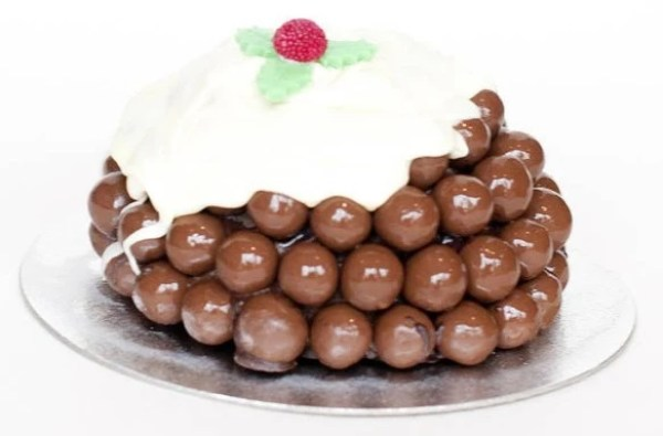 honeycomb Balls Christmas Pudding