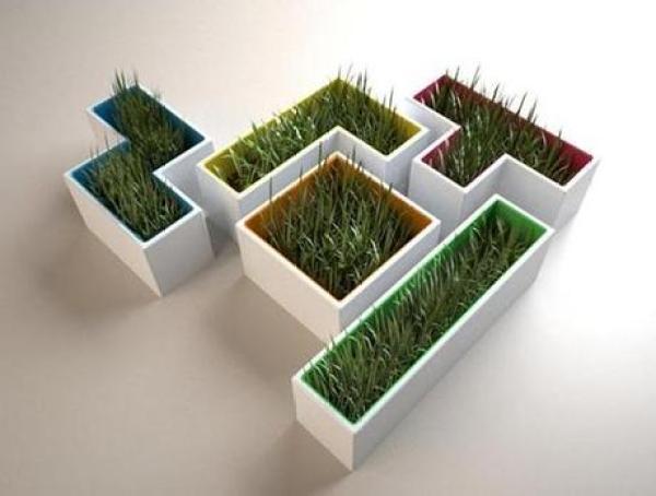 Tetris Themed Plant Pots
