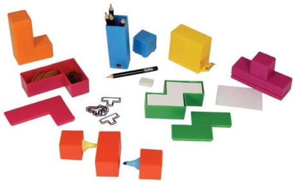 Tetris Themed Desk Set