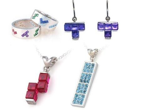 Tetris Themed Jewellery