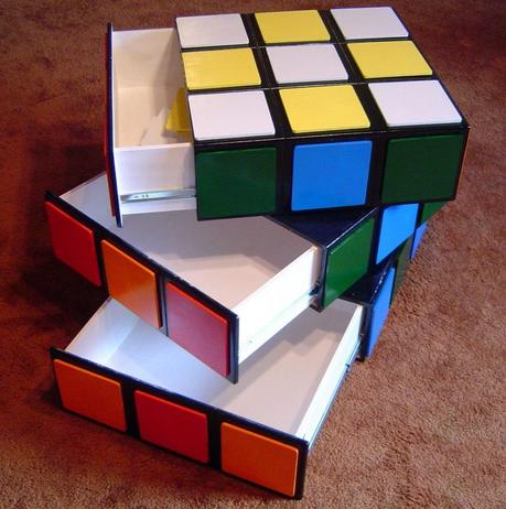 Rubik's Cube Inspired chest of drawers