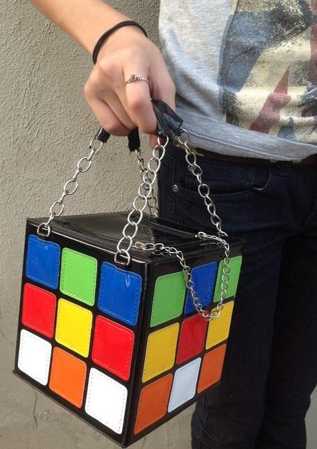 Rubik's Cube Inspired Bag Purse
