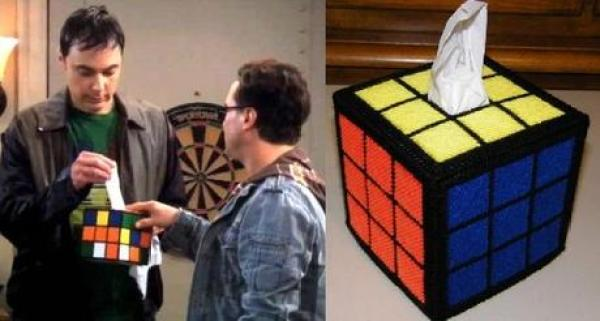 Rubik's Cube Inspired Tissue Box