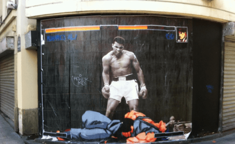 Street Fighter Inspired Street Art