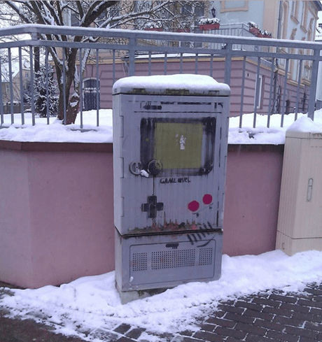 Gameboy Inspired Street Art