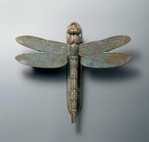 Dragonfly inspired door knocker