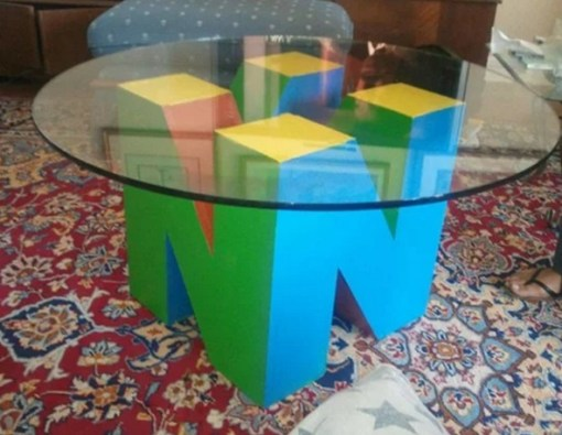 3D Nintendo 64 logo inspired coffee table
