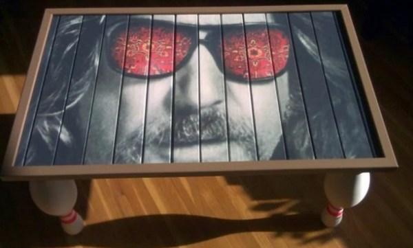 Big Lebowski inspired coffee table