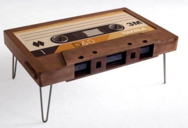 Cassette tape inspired coffee table