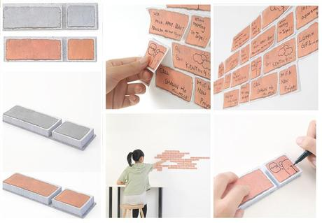 Brick Inspired Post-it notes