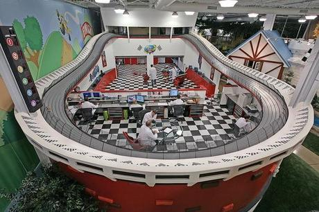 Racetrack Themed Office in Inventionland