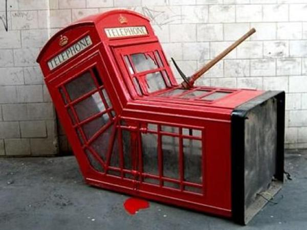 Red Telephone Box / Phone Booth turned into Art
