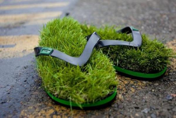 Lawn Inspired Flip Flops