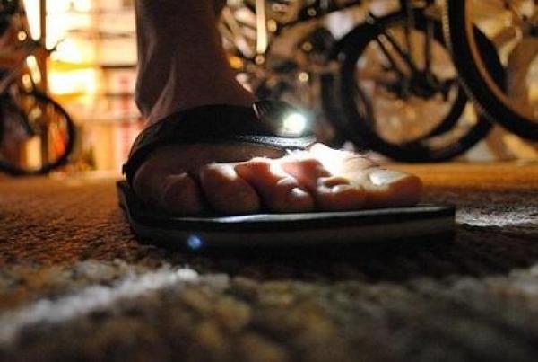 Light Inspired Flip Flops