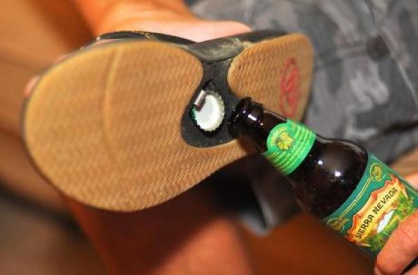 Bottle Opener Inspired Flip Flops