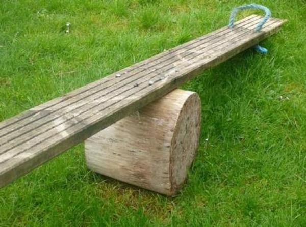 Basic Seesaw Made From Wood