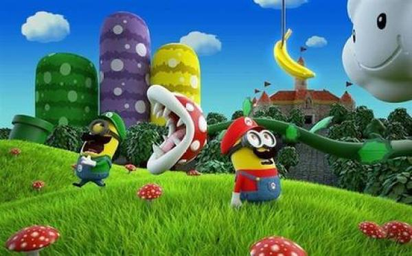 Minions Redesigned as Super Mario and Luigi