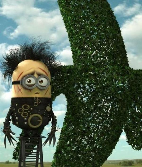 Minions Redesigned as Edward Scissorhands