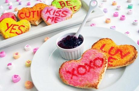 Love Heart Sweets Inspired Toast