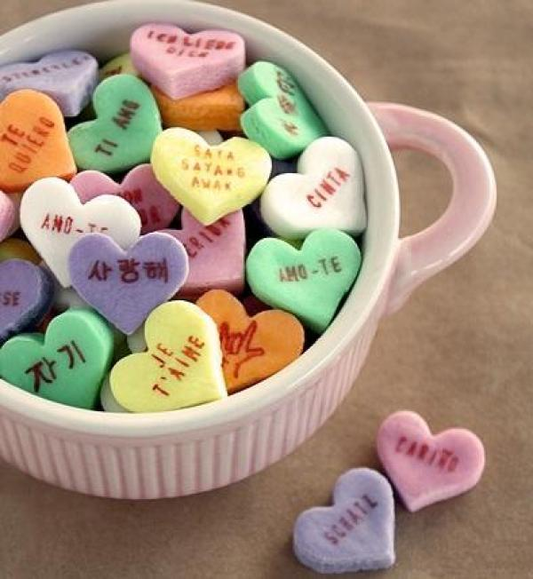 Homemade Love Heart Sweets