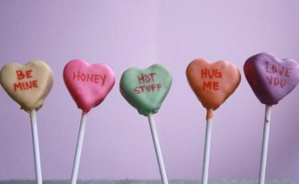 Love Heart Sweets Inspired Cake Pops