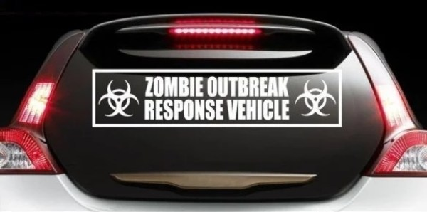 Zombie Outbreak Response Team Car Decal