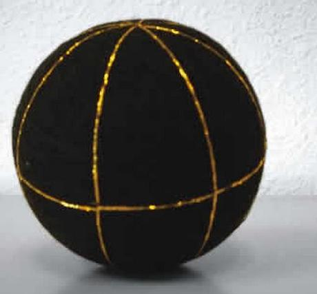 Gold and Black Temari Ball