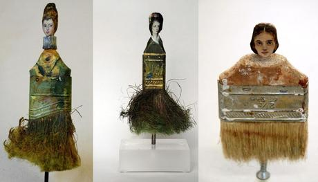 Recycled Paint Brushes Turned Into Art