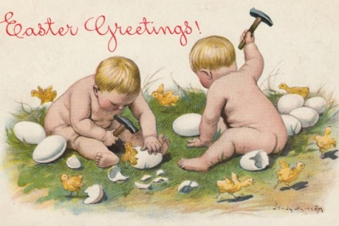 Top 10 Vintage and very Awkward Easter Cards