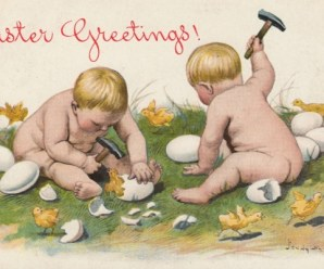 Ten of the Weirdest Vintage and Very Awkward Easter Cards