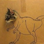 Top 10 Best Images of Cardboard cat art