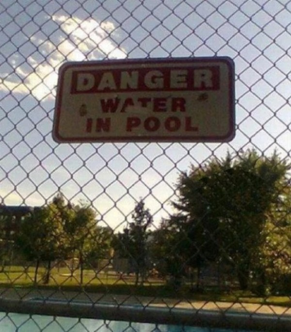 Pointless Pool Sign
