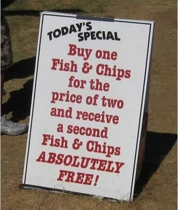 Pointless Chip Shop Sign