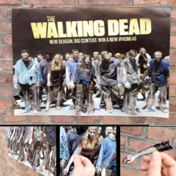 Walking Dead Tear Off Posters